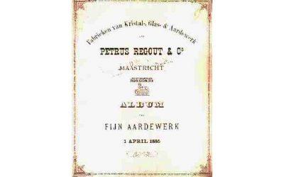 Album 1885 met de prijscourant 1890 van P. Regout